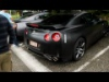 Nissan GT-R 666 with modified exhaust drive away